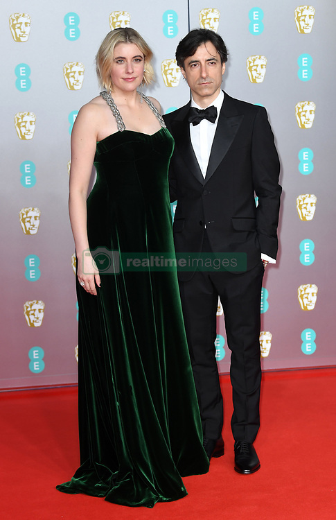 Greta Gerwig and Noah Baumbach attending the 73rd British Academy Film Awards held at the Royal Albert Hall, London. Photo credit should read: Doug Peters/EMPICS Entertainment