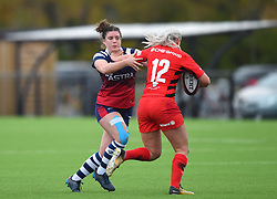 Phoebe Murray of Bristol Bears Women battles with Hannah Casey of Saracens Women - Mandatory by-line: Paul Knight/JMP - 03/11/2018 - RUGBY - Shaftesbury Park - Bristol, England - Bristol Bears Women v Saracens Women - Tyrrells Premier 15s