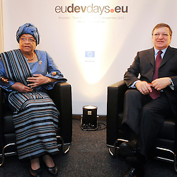 26 November 2013 - Belgium - Brussels - European Development Days - EDD -Bilateral between José Manuel Barroso - President of the European Commission and Ellen Johnson Sirleaf - President of Liberia © European Union