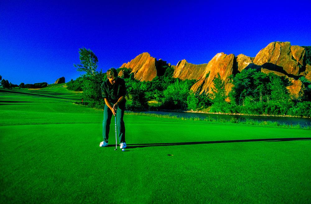 Golfing, Arrowhead Golf Club, Litteton, Colorado USA