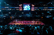 General view of the Staples Center during the NBA All-Star Game on Sunday, Feb. 15, 2004 in Los Angeles.