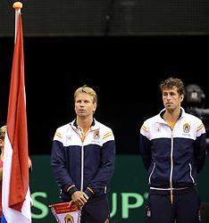 12-09-2014 NED: Davis Cup Nederland - Kroatie, Amsterdam<br /> Jan Siemerink, Robin Haase