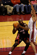 Copyright David Richard<br /> Shaquille O'Neal of the Miami Heat.