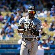 Aug 13 2016 - Los Angeles U.S. CA - Pittsburgh Pirates LP # 6 Starling Marte up a bat during MLB game between LA Dodgers and the Pittsburgh Pirates 8-4 lost at Dodgers Stadium Los Angeles Calif. Thurman James / CSM