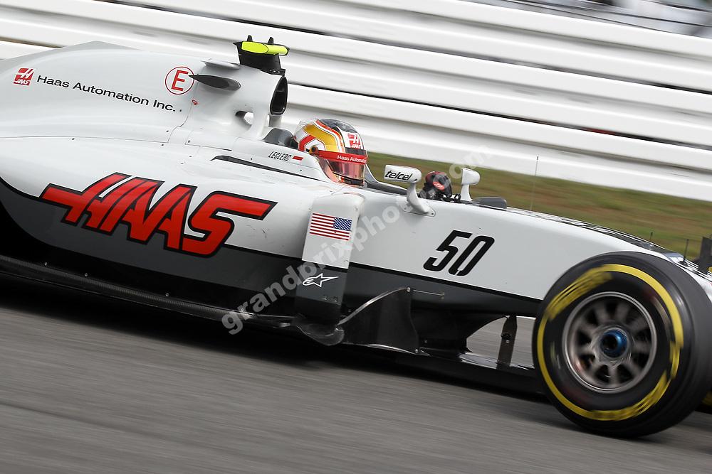 Test driver Charles Leclerc (Haas-Ferrari) in practice for thr 2016 German Grand Prix at Hockenheim. Photo: Grand Prix Photo