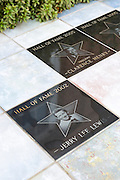 Walk of Fame on the The Blues Trail - plaques in tribute to Jerry Lee Lewis, Clarence Henry at Delta Music Museum, Ferriday, USA