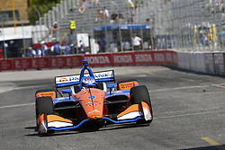 July 13, 2018 - Toronto, Ontario, Canada - SCOTT DIXON (9) of New Zealand takes to the track to practice for the Honda Indy Toronto at Streets of Exhibition Place in Toronto, Ontario. (Credit Image: © Justin R. Noe Asp Inc/ASP via ZUMA Wire)