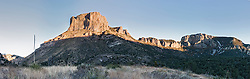 Casa Grande peak in the Chisos Mountains, Big Bend National Park, Texas, USA.