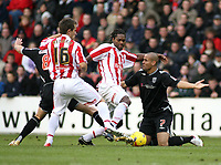 Photo:Mark Stephenson, Stoke City v West Bromwich Albion.<br />Coca Cola Championshipe,25-11-2006.<br />Stoke and West Brom fight for the ball.