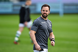 Micky Young of Newcastle Falcons looks on during the pre-match warm-up - Mandatory byline: Patrick Khachfe/JMP - 07966 386802 - 21/11/2020 - RUGBY UNION - The Recreation Ground - Bath, England - Bath Rugby v Newcastle Falcons - Gallagher Premiership