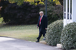 October 31, 2018 - Washington, District of Columbia, U.S. - United States President Donald J. Trump departs The White House in Washington, DC, to attend a political event in Florida, October 31, 2018. Credit: Chris Kleponis / Pool via CNP (Credit Image: © Chris Kleponis/CNP via ZUMA Wire)