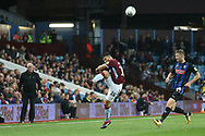 Mile Jedinak of Aston Villa (15) makes a back pass during the EFL Sky Bet Championship match between Aston Villa and Rotherham United at Villa Park, Birmingham, England on 18 September 2018.