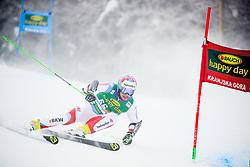 Luca Aerni of Switzerland competes during 1st run of Men's GiantSlalom race of FIS Alpine Ski World Cup 57th Vitranc Cup 2018, on March 3, 2018 in Kranjska Gora, Slovenia. Photo by Ziga Zupan / Sportida
