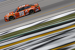July 13, 2018 - Sparta, Kentucky, United States of America - Daniel Suarez (19) brings his race car down the front stretch during practice for the Quaker State 400 at Kentucky Speedway in Sparta, Kentucky. (Credit Image: © Chris Owens Asp Inc/ASP via ZUMA Wire)