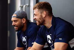 Dave Attwood and John Afoa look on as Bristol Bears start to use their new almost completed Training centre - Rogan/JMP - 08/07/2020 - RUGBY UNION - Beggar Bush Lane - Bristol, England.