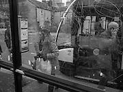 Bus stop.  Saltcoats. Ayrshire. Scotland. 2 April 2016