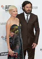Michelle Williams & Casey Affleck, Manchester By The Sea - The BFI London Film Festival, Odeon Leicester Square, London UK, 08 October 2016, Photo by Brett D. Cove
