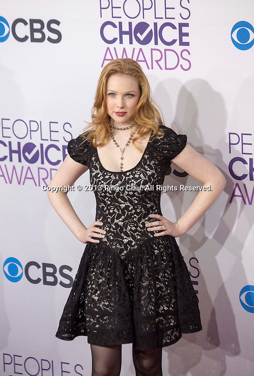 Molly C. Quinn arrives at the 39th Annual People's Choice Awards at Nokia Theatre L.A. Live on Wednesday January 9, 2013 in Los Angeles, California, United States. (Photo by Ringo Chiu/PHOTOFORMULA.com)