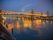 The Queensborough Bridge, (the 59th Street Bridge) in New York City.