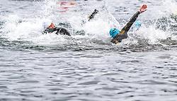 26.08.2018, Zell am See Kaprun, AUT, IRONMAN 70.3 Salzburg, im Bild Athleten im Wasser // during IRONMAN 70.3, Salzburg at Zell am See- Kaprun, Austria on 2018/08/26. EXPA Pictures © 2018, PhotoCredit: EXPA/ JFK