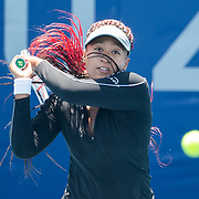 TOKYO, JAPAN - JULY 23: Naomi Osaka of Japan practicing on court one at Ariake Tennis Park in preparation for the Tokyo 2020 Olympic Games on July 223 2021 in Tokyo, Japan. (Photo by Tim Clayton/Corbis via Getty Images)