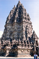 Java, Central Java. Prambanan. Candi Shiva Mahadeva, Loro Jonggrang, the center of the temple complex Prambanan.