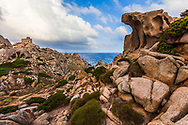 A cape with rocks in different shapes on the north side of Sardinia