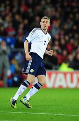 Scotland's Darren Fletcher (Manchester United) - Photo mandatory by-line: Joe Meredith/JMP  - Tel: Mobile:07966 386802 12/10/2012 - Wales v Scotland - SPORT - FOOTBALL - World Cup Qualifier -  Cardiff   - Cardiff City Stadium -