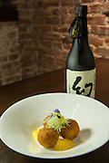 Lobster croquettes (lobster, Lardo Iberico de Bellota, Saiko miso with lobster bisque foam) at SakaMai.