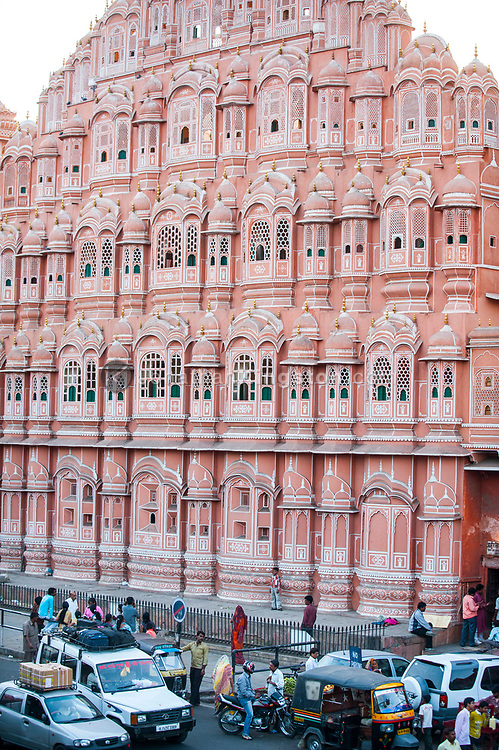 Hawa Mahal, or Palace of Winds, in Jaipur, India.