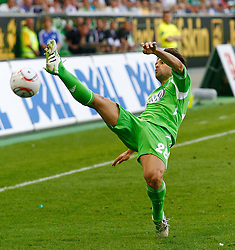 07.05.2011, Volkswagen Arena, Wolfsburg, GER, 1.FBL, VfL Wolfsburg vs 1.FC Kaiserslautern, im Bild Diego (Wolfsburg #28) kann den Ball nicht mehr erreichen .EXPA Pictures © 2011, PhotoCredit: EXPA/ nph/  Schrader       ****** out of GER / SWE / CRO  / BEL ******