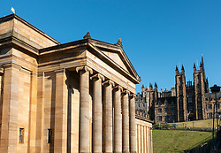 Exterior of Scottish National Gallery art museum in Edinburgh, Scotland, UK