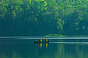 Canoeing on northern lake<br />Arrowhead Provincial Park<br />Ontario<br />Canada
