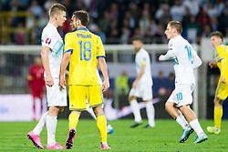 Roman Bezjak (SLO) and Serhiy Rybalka (UKR) during the UEFA EURO 2016 Play-off for Final Tournament, Second leg between Slovenia and Ukraine, on November 17, 2015 in Stadium Ljudski vrt, Maribor, Slovenia. Photo by Urban Urbanc / Sportida