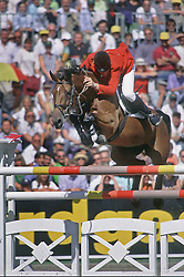 Beerbaum Ludger-Ratina Z<br /> European Championships Mannheim 1997<br /> Photo © Dirk Caremans