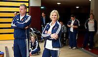 AMSTERDAM - Bondscoach Paul Mennink . Demonstratiewedstrijd van het Nederlands E-hockey team. COPYRIGHT KOEN SUYK