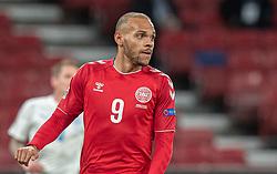 Martin Braithwaite (Danmark) under kampen i Nations League mellem Danmark og Island den 15. november 2020 i Parken, København (Foto: Claus Birch).
