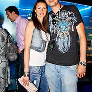 NLD/Amsterdam/20100701 - Presentatie nieuwe Samsung telefoon Galaxy S, Lange Frans en partner Daniëlle van Aalderen