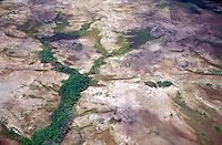 Vista aérea de la zona selvática del Amazonas, Venezuela.