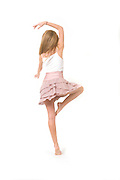 Teen dancer on On white Background