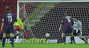 Watford, England. <br /> Vicarage Road.<br /> Football - Worthington Cup 9/10/01<br /> Watford v Bradford:<br /> Watford's, Micah Hyde scores the first goal   [Mandatory Credit:Peter SPURRIER/Intersport Images]