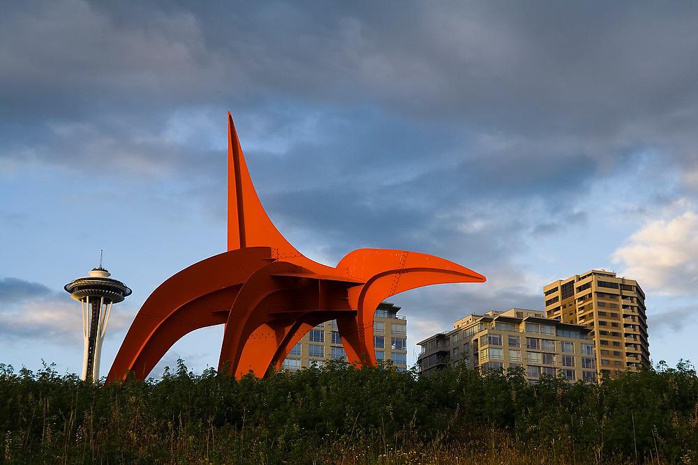 Eagle sculpture (Alexander Calder, 1971) at the Seattle Art Museum Olympic Sculpture Park in Seattle, Washington.