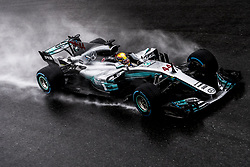 September 2, 2017 - Monza, Italy - #44 LEWIS HAMILTON (Mercedes AMG Petronas F1 Team) during a rainy Qualifying session for the FIA Formula One World Championship, Grand Prix of Italy. (Credit Image: © Hoch Zwei via ZUMA Wire)