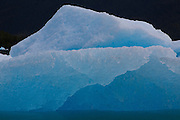 Icebergs in Le Conte Bay, Tongass National Forest, Alaska.