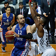 Anadolu Efes's Nenad Krstic (L) during their Turkish basketball league match Besiktas integral Forex between Anadolu Efes at BJK Akatlar Arena in Istanbul, Turkey, Monday, January 05, 2015. Photo by TURKPIX