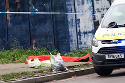 © Licensed to London News Pictures. 28/11/2019. London, UK. The body of a man is recovered by emergency services at Vauxhall Bus Station, South London. Nothing more is known at this point. Photo credit: Guilhem Baker/LNP