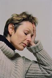 Portrait of depressed woman,