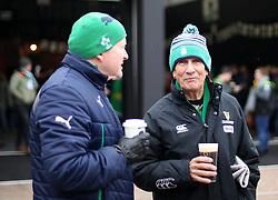 Ireland fans before the NatWest 6 Nations match at Twickenham Stadium, London.