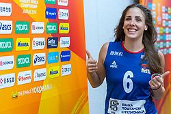 19-10-2018 JPN: Semi Final World Championship Volleyball Women day 20, Yokohama<br /> Serbia - Netherlands / Tijana Malesevic #6 of Serbia