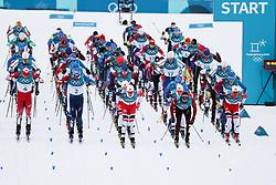 PYEONGCHANG-GUN, SOUTH KOREA - FEBRUARY 11: Start during the Cross-Country Men's Skiathlon at Alpensia Cross-Country Centre on February 11, 2018 in Pyeongchang-gun, South Korea. Photo by Kim Jong-man / Sportida